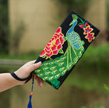Hot New Embroidered Wallet Purse Handmade Ethnic Flowers Embroidery Women Long Wallet Day Clutch HandBag - Hespirides Gifts - 18