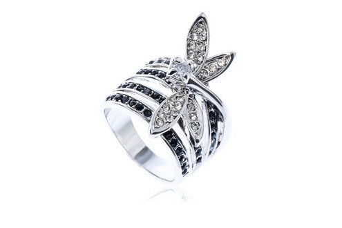 Fashion personality high-quality Dragonfly ring women jewelry lovers Full Size Wholesale - Hespirides Gifts