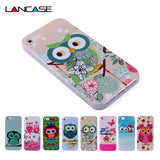 For Capinha Para iPhone 5S Case Cute Owls Cartoon Soft TPU Gel Cover for Case iPhone 5S 4 4S SE/IP 6 6S Plus Cases Capinha 5S - Hespirides Gifts - 1