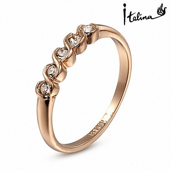 Real Italina Rigant Genuine Austrian Crystal 18K gold Plated Fashion Rings for Women healthy Anti Allergies Zirconia RG90035 - Hespirides Gifts