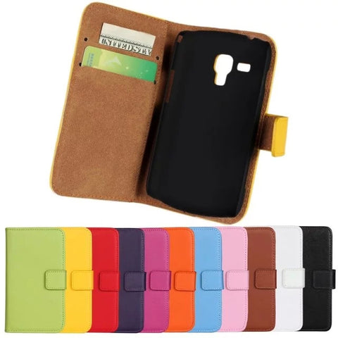 Top Original Wallet Flip PU Leather Case For Samsung galaxy Trend Duos GT - S7562 S7562 Phone Cases Cover With Stand Function - Hespirides Gifts - 1