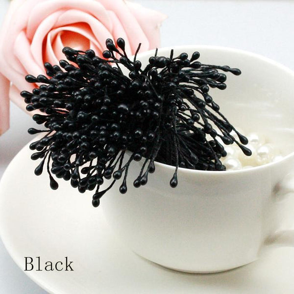 Wholesale Multi Color 3mm (500pcs/lot) Pearl Flower Stamen Floral Stamen For DIY Cake/Wedding Decoration Artificial Flowers - Hespirides Gifts - 2