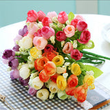 Fashion Bouquet Artificial Roses Flowers Home Garden Wedding Craft Living Room Decoration DIY Drop - Hespirides Gifts - 1