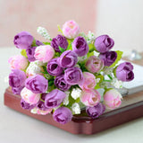 Fashion Bouquet Artificial Roses Flowers Home Garden Wedding Craft Living Room Decoration DIY Drop - Hespirides Gifts - 3