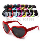 PING! EUROPEAN FASHION HEART SUNGLASSES UNISEX CANDY COLOR SUNGLASSES STAR LOVED SUNGLASSES S06 - Hespirides Gifts - 1