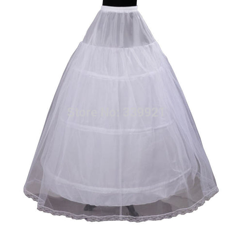 Cheap Price Hot Sale 2 layer 3 Hoop Elastic Waist Bridal Gown Drawstring Dress Petticoat Underskirt Crinoline Wedding Dress - Hespirides Gifts