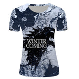 Game of Thrones 3D T Shirts Women Cat Pattern Printed T-shirts Design Sexy Camisetas O Neck Tees Top - Hespirides Gifts