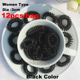 TS 12pc Dia 3CM Hot candy-colored hair rope wholesale telephone wire hair band Hair Accessories women Rubber bands Girl Hair Gum - Hespirides Gifts - 3