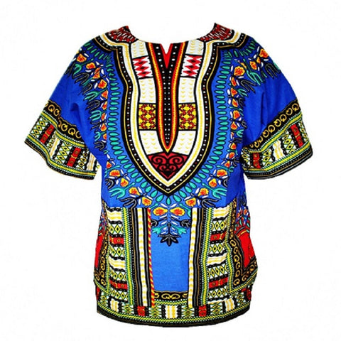 Dashiki New African Clothing Traditional Print Tops Fashion Design African Bazin Riche Clothes Dashiki T-shirt For Men Women - Hespirides Gifts - 1