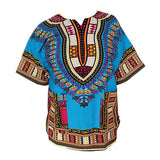 Dashiki New African Clothing Traditional Print Tops Fashion Design African Bazin Riche Clothes Dashiki T-shirt For Men Women - Hespirides Gifts - 8