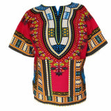 Dashiki New African Clothing Traditional Print Tops Fashion Design African Bazin Riche Clothes Dashiki T-shirt For Men Women - Hespirides Gifts - 3
