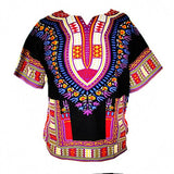 Dashiki New African Clothing Traditional Print Tops Fashion Design African Bazin Riche Clothes Dashiki T-shirt For Men Women - Hespirides Gifts - 6
