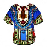 Dashiki New African Clothing Traditional Print Tops Fashion Design African Bazin Riche Clothes Dashiki T-shirt For Men Women - Hespirides Gifts - 2