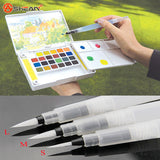 Refillable 1 Pc Water Brush Ink Pen for Water Color Calligraphy Painting Illustration Pen Office Stationery - Hespirides Gifts - 1