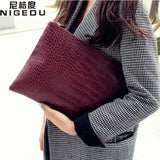 Fashion crocodile grain women's clutch bag leather women envelope bag clutch evening bag female Clutches Handbag - Hespirides Gifts - 1