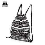 National Women Canvas Drawstring Backpack Newest Vintage College Students School Bagpack Girls Mochila Feminina Sports Sack Bag - Hespirides Gifts - 1