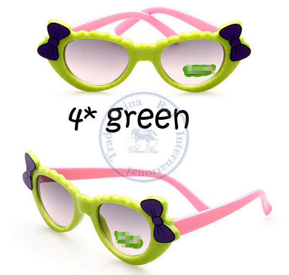 Fashion princess bowknot heart sunglasses Glasses Eyeglasses eyeware anti UV 400 for kids girls child Wholesale - Hespirides Gifts - 5