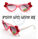 Fashion princess bowknot heart sunglasses Glasses Eyeglasses eyeware anti UV 400 for kids girls child Wholesale - Hespirides Gifts - 9