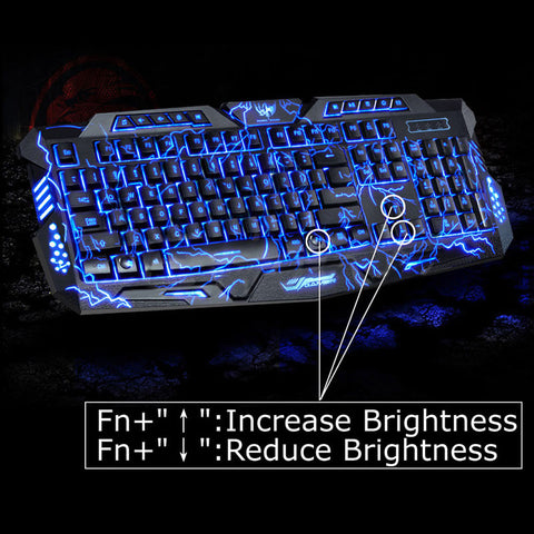 English Version Waterproof Backlight LED Pro Gaming Keyboard M200 USB Wired Powered Full Key For LOL Computer Peripherals - Hespirides Gifts