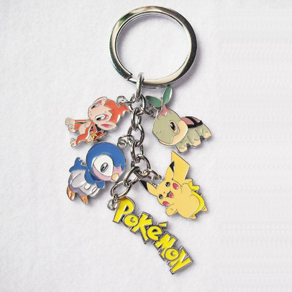 New Pokemon action figure toys Mini Cute Cartoon Pikachu Bulbasaur Eevee Mega Charizard Keychain Keyring Pendant Collect Gift - Hespirides Gifts - 5