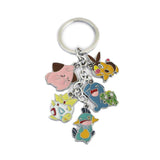 New Pokemon action figure toys Mini Cute Cartoon Pikachu Bulbasaur Eevee Mega Charizard Keychain Keyring Pendant Collect Gift - Hespirides Gifts - 2