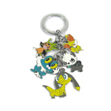 New Pokemon action figure toys Mini Cute Cartoon Pikachu Bulbasaur Eevee Mega Charizard Keychain Keyring Pendant Collect Gift - Hespirides Gifts - 4