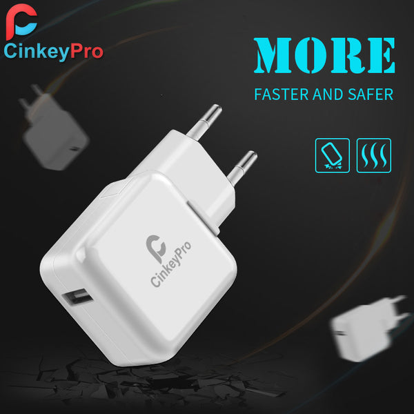 CinkeyPro USB Charger Smart EU Plug 5V 2A Power Adapter Dock Mobile Phone Accessories For iPhone iPad Samsung Charging - Hespirides Gifts