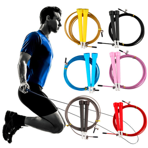 Cable Steel Jump Skipping Jumping Speed Fitness Rope Cross Fit MMA Boxing - Hespirides Gifts
