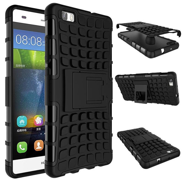 For Huawei P8 Lite Case Heavy Duty Armor Shockproof Hybrid Hard Soft Silicone Rugged Rubber Phone Case Cover For P8 Lite (< - Hespirides Gifts - 3