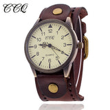 CCQ Vintage Cow Leather Bracelet Watch High Quality Antique Women Wrist Watch Luxury Quartz Watch Relogio Feminino 1772 - Hespirides Gifts - 1