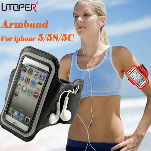 For iphone SE Adjustable SPORT GYM Armband Bag Case for apple iPhone 5 5S 5C Waterproof Jogging Arm Band Mobile Phone Belt Cover - Hespirides Gifts