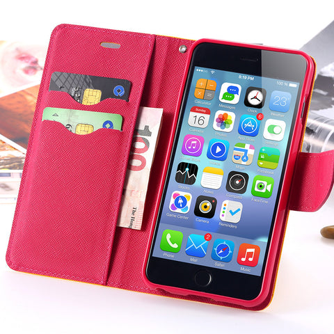 Case For Apple iphone 5 5S SE / 5C Luxury Logo Leather Cases Wallet Pouch Bag Stand Card Slot Holder Phone Flip Cover For i5 Se - Hespirides Gifts - 1