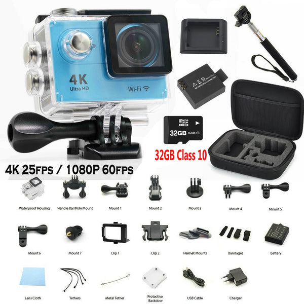 Original EKEN H9 Action Camera Ultra HD 4K WiFi 1080P/60fps 2.0 LCD 170D lens Pro Helmet Cam go waterproof camera - Hespirides Gifts