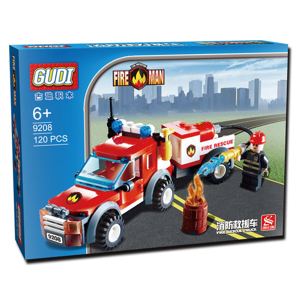 GUDI Fire Rescue Building Blocks Truck Compatible with Lego Fire Station Truck Education DIYToys Gift for Children Boys - Hespirides Gifts