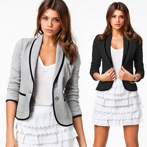 New Spring Women Clothes Women Blazer Long Sleeve Women Blazer Single Breasted Fashion Casual Small Suit S20116 - Hespirides Gifts - 1