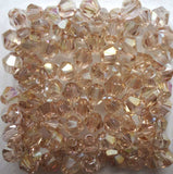 Light Colors 100pcs 4mm Bicone Austria Crystal Beads charm Glass Beads Loose Spacer Bead for DIY Jewelry Making - Hespirides Gifts - 10