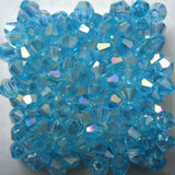 Light Colors 100pcs 4mm Bicone Austria Crystal Beads charm Glass Beads Loose Spacer Bead for DIY Jewelry Making - Hespirides Gifts - 14