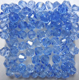 Light Colors 100pcs 4mm Bicone Austria Crystal Beads charm Glass Beads Loose Spacer Bead for DIY Jewelry Making - Hespirides Gifts - 6