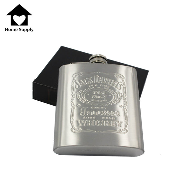 High Quality Portable 7oz Stainless Steel hip flask with Box as Gift Whiskey Honest Flask Bottle Mug Wisky Jerry Can K0039 - Hespirides Gifts