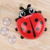 Creative Home Accessories Cartoon Ladybird Toiletries Toothpaste Holder Bathroom Sets Suction Hooks Tooth Brush Holder - Hespirides Gifts - 2