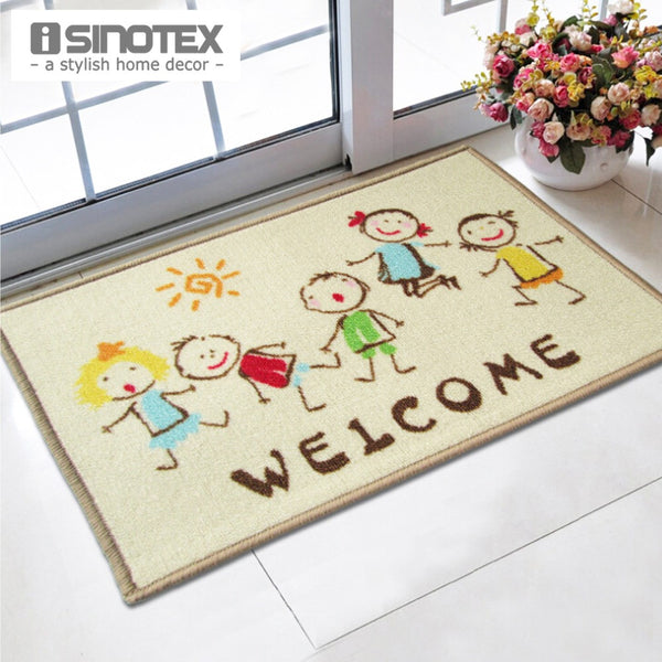 Welcome Doormat 40x60cm Cartoon Kids printed tapetes bath mat for Children living room bathroom carpet nylon mats Wholesale rugs - Hespirides Gifts