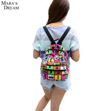 New Woman Backpack Hot Sale Canvas School Bag Printing Lightweight School Backpacks Fashion Women's Bags - Hespirides Gifts - 1