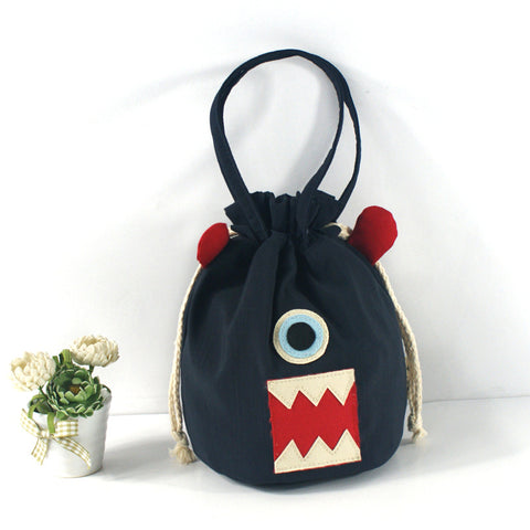 Women Children Kids Girls String Bucket Handbag Cartoon Monster Bag Phone Pocket Handbags Tote Purse Satchel Hobos