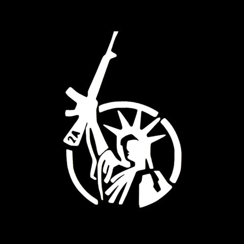 Funny STATUE OF LIBERTY Right to Bear Arms AK 47 2nd Amendment Laptop Vinyl sticker Decal For Car Truck Window Bumper - Hespirides Gifts - 1