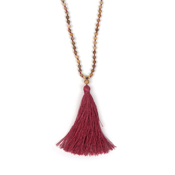 Boho Statement Maxi Necklace Women Collier Femme Jewelry Natural Stone 4MM Beads Handmade Tassel Long Bohemian Bijoux Choker New - Hespirides Gifts - 3
