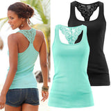 Women Ladies Sexy Lace Sleeveless Vest Summer Casual Lace Tank Tops - Hespirides Gifts - 1