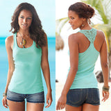 Women Ladies Sexy Lace Sleeveless Vest Summer Casual Lace Tank Tops - Hespirides Gifts - 3
