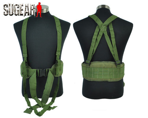 Hottest Molle Airsoft Tactical Waist Padded Belt With H-shaped Suspender Nylon Cummerbunds High Quality For Men Outdoor Sport - Hespirides Gifts - 4