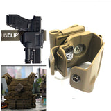 Lose money sale!!!DLP Tactical Glock Clip MOLLE / Belt Holster for Glock 17 19 22 23 - BK/TAN - Hespirides Gifts - 1