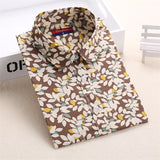 Dioufond Cotton Print Women Blouses Shirts Work Collar Office Ladies Tops Casual Cherry Long Sleeve Shirt Women Fashion Clothing - Hespirides Gifts - 4